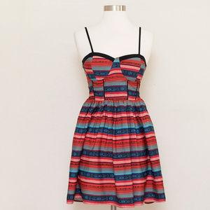 Band of Gypsies Striped Spaghetti Strap Dress S